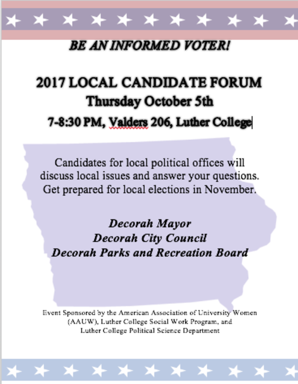Local candidate forum