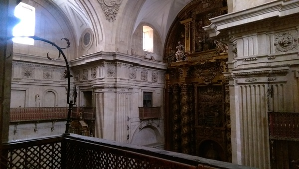 Inside of La Clerecía - we unfortunately didn't have the chance to see full scale of the inside of the church.