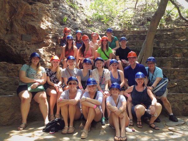 "One of our group pictures at the caves!<a href=""/reason/images/596489_orig.jpg"" title=""High res"">∝</a>"