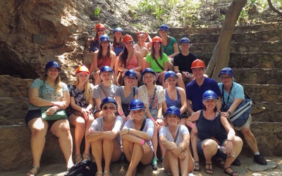 One of our group pictures at the caves!