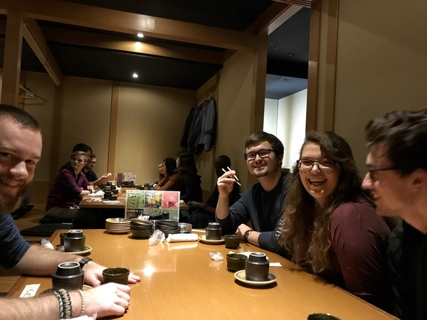 "Students prepare to eat a Japanese meal during their first night in Sendai.<a href=""/reason/images/798491_orig.jpg"" title=""High res"">∝</a>"
