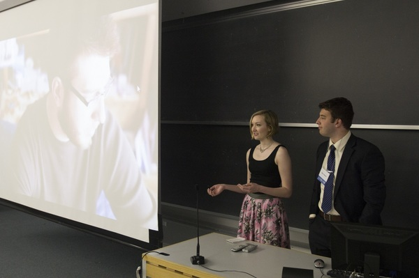 Two Luther students gain experience and confidence while presenting the results of their work.