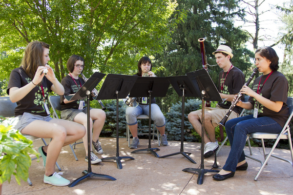 "Lutheran Summer Music attendees perform in various groups throughout campus and the Decorah community.<a href=""/reason/images/560506_orig.jpg"" title=""High res"">∝</a>"