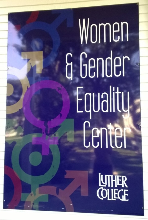 Women and Gender Equality Center sign