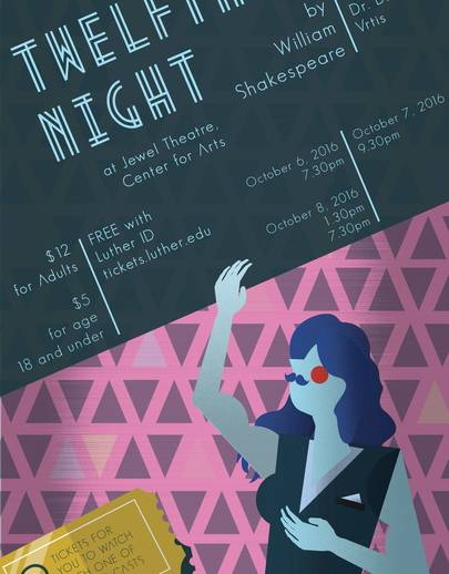 "Poster for ""Twelfth Night"""