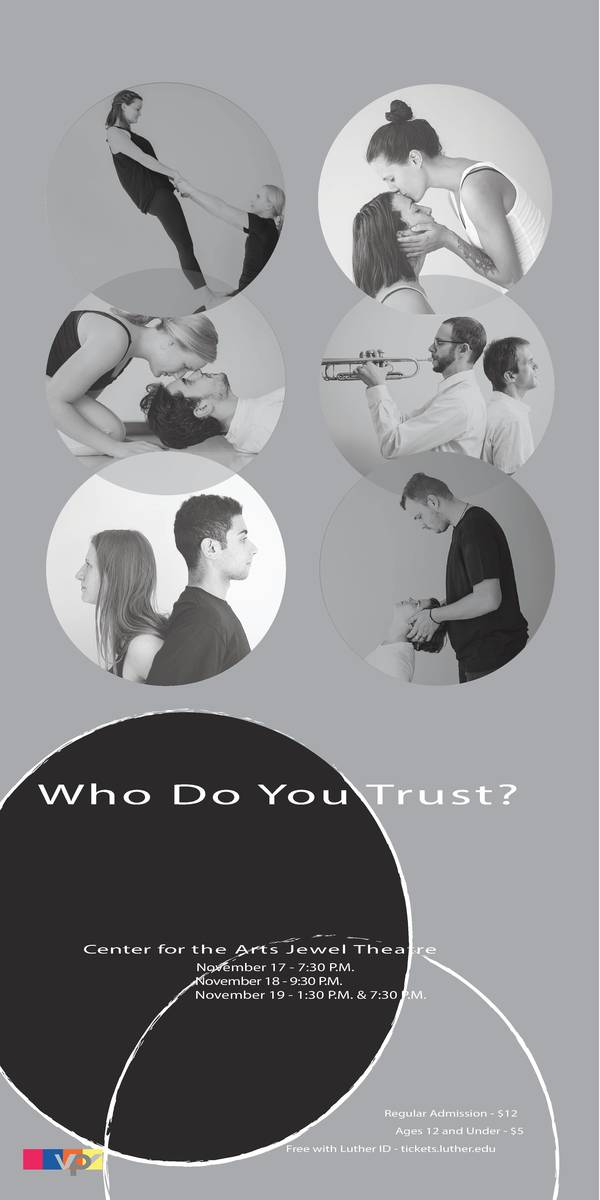 "Poster for ""Who Do You Trust?"""