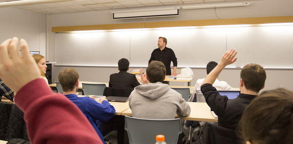 "Ross Hadley '95 speaks to management professor Tim Schweizer's entrepreneurship class.<a href=""/reason/images/549523_orig.jpg"" title=""High res"">&prop;</a>"