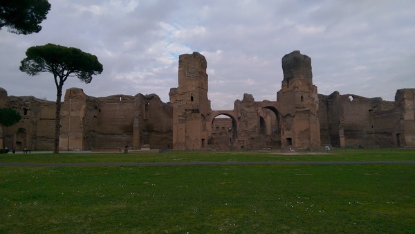 "The ancient Baths at Caracalla! One of those moments when you really step back and realize how grand ancient Rome actually was.<a href=""/reason/images/673526_orig.jpg"" title=""High res"">∝</a>"
