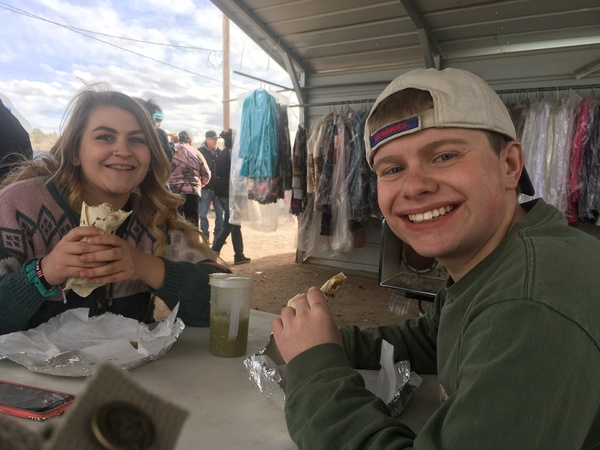 "Andrew and Maren eating burritos. Yum!<a href=""/reason/images/799528_orig.jpg"" title=""High res"">∝</a>"