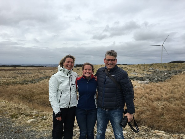 "This is a photo of my Norwegian ""parents,"" who are actually my mother's cousin and her husband, in a wind turbine field in Vigrestad, Norway!<a href=""/reason/images/690529_orig.jpg"" title=""High res"">∝</a>"
