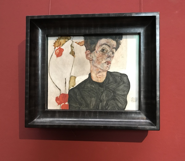 "Egon Schiele's ""Self Portrait with Chinese Lantern Fruit"" at the Leopold<a href=""/reason/images/796539_orig.jpg"" title=""High res"">∝</a>"