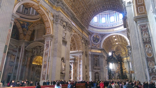 "Inside the basilica. Gigantic in the most literal sense. This place was built for God himself to roam within.<a href=""/reason/images/673540_orig.jpg"" title=""High res"">∝</a>"