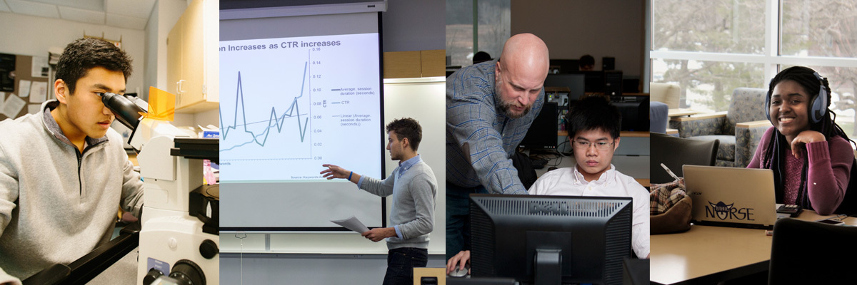 Students in a variety of disciplines learn how to apply big data to real life situations.
