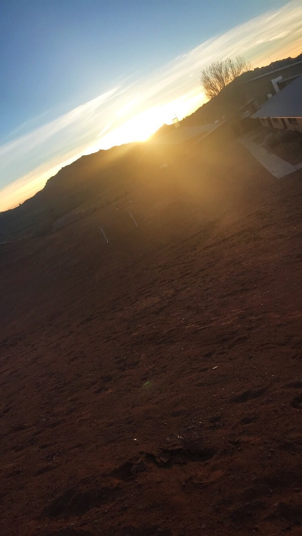 "Sunset after our first day in Gallup<a href=""/reason/images/796550_orig.jpg"" title=""High res"">∝</a>"