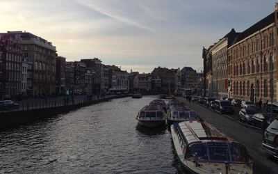 Amsterdam is built on a system of canals, crisscrossing through the whole city.