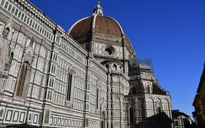 A view of the Duomo, the tallest structure in Florence, and the 3rd tallest domed cathedral in the world.
