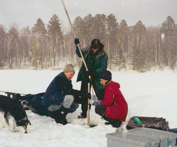 Coring lake sediments through the ice
