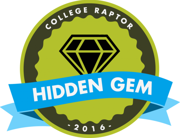 "College Raptor ""Hidden Gem"" logo"