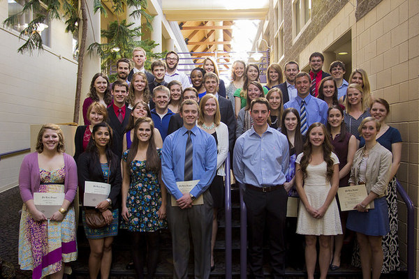 Ceremony for students joining Phi Beta Kappa in 2015.