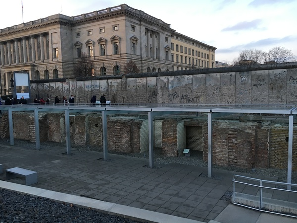 "Part of the Topography of Terror Museum is located outside along the remaining piece of the Berlin Wall.<a href=""/reason/images/801576_orig.jpg"" title=""High res"">∝</a>"