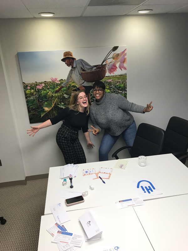 "Becca and a HI staff member posing in the conference room.<a href=""/reason/images/851580_orig.jpg"" title=""High res"">&prop;</a>"