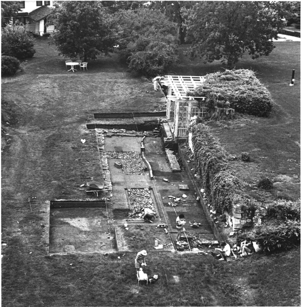 Picture of the excavations at Terrace Hill taken from the house