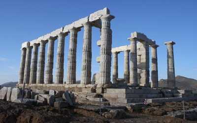 The Temple of Poseidon at Sounion.