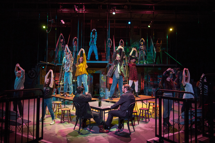 "Luther students perform in ""Rent""."