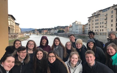 The group on the Ponte Vecchio.