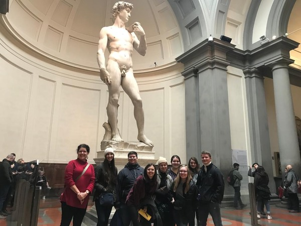 "In front of Michelangelo's ""David."" Hence the phallus reference.<a href=""/reason/images/896606_orig.jpg"" title=""High res"">&prop;</a>"