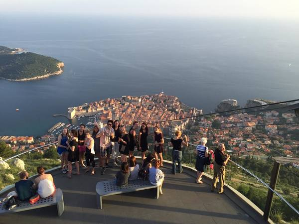 We took a cable car in Dubrovnik, Croatia above the walled city where the Game of Thrones is filmed.
