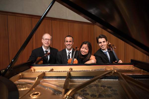 "Luther College Piano Quartet: (from left) Igor Kalnin, Spencer Martin, Miko Kominami and Philip Borter<a href=""/reason/images/848627_orig.jpg"" title=""High res"">∝</a>"