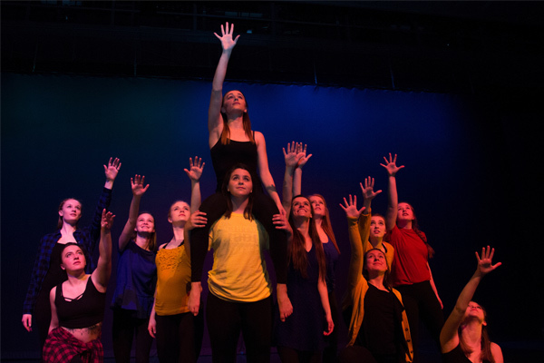 "Members of Orchesis perform in their production of ""Why We Dance."""