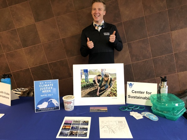 Logan Olson '22, chair of Luther's Environmental Concerns Organization.