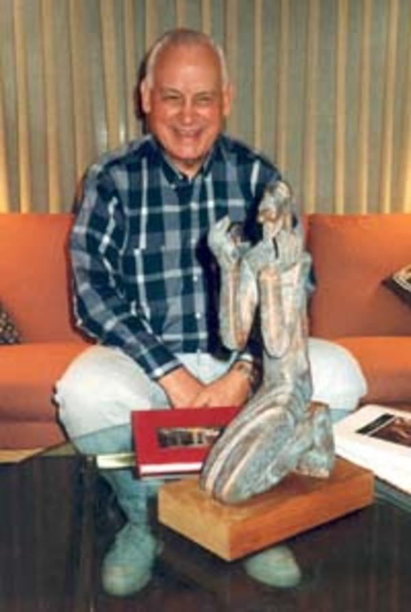 Bill Heintz with Peter Lepori Sculpture, ca. 1995.