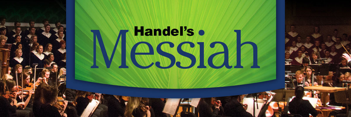 Graphic promoting Handel's Messiah.