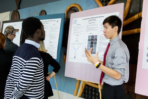 Students present their research at the Environmental Studies Poster Session.