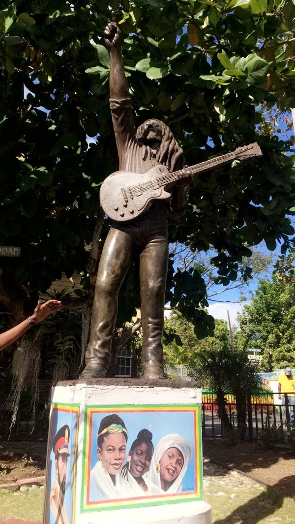 "The statue of Bob Marley is the first thing you see as you enter the property.<a href=""/reason/images/741651_orig.jpg"" title=""High res"">∝</a>"