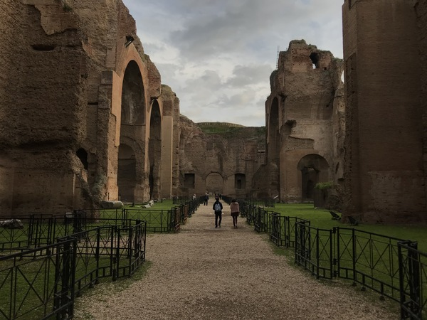 "The Baths of Caracalla was the spa for the wealthy during the Roman Empire. Now we are left with fragments of mosaics and the crumbling archways pictured above. Photo by Isaac Heins '18<a href=""/reason/images/801653_orig.jpg"" title=""High res"">∝</a>"
