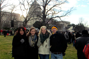 Students in front of the Capitol Building during Washington Semester.