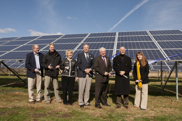 Ribbon cutting of 280kW solar field