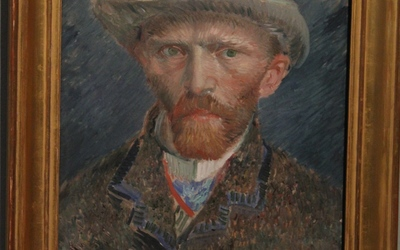 The self portrait by Van Gough which is on display at the Rijksmuseum.