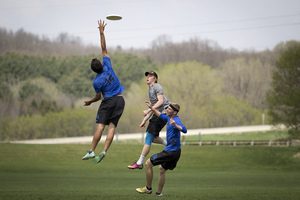A great catch made by a Luther ultimate player