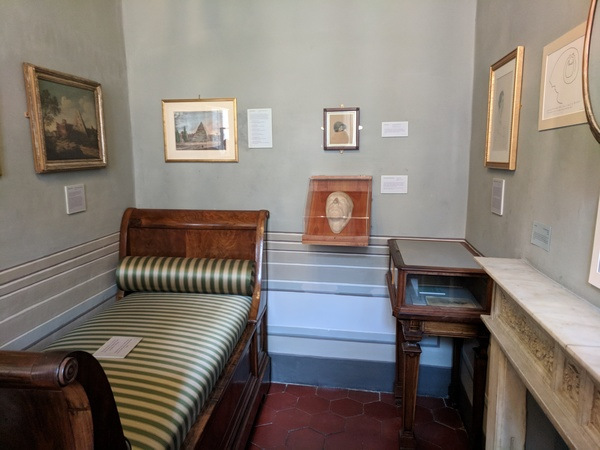 "The room where John Keats died of consumption. Photo by Isaac Heins '18<a href=""/reason/images/801657_orig.jpg"" title=""High res"">∝</a>"