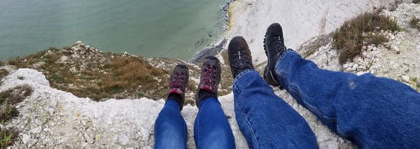 "Karl and I climbed onto a ledge to let our feet dangle over the edge.<a href=""/reason/images/791660_orig.jpg"" title=""High res"">∝</a>"