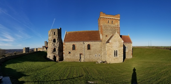 "The Saxon Church (right) and the Roman Lighthouse (Left)!<a href=""/reason/images/791665_orig.jpg"" title=""High res"">∝</a>"