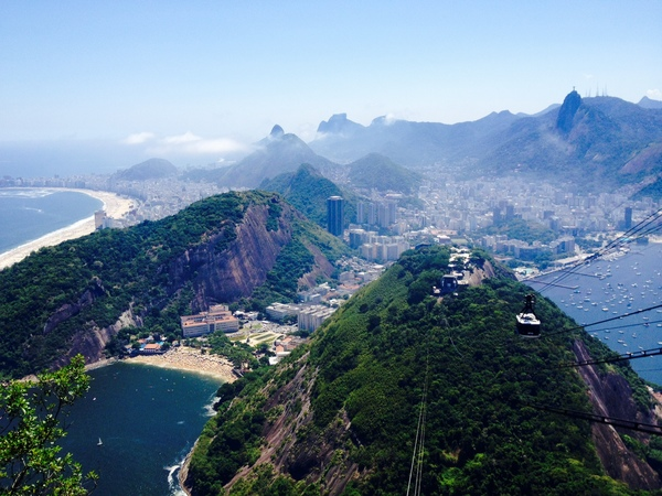"Rio from the top of Sugar Loaf!<a href=""/reason/images/524668_orig.jpg"" title=""High res"">∝</a>"