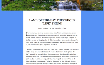 Screenshot of blog Religiality: Simply You