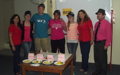 The group winners received hats as prizes while the second place group received v-neck t-shirts.