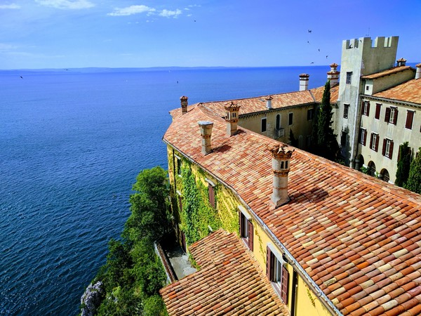From the top of Duino Castle. Panoramic views from this landmark abound!